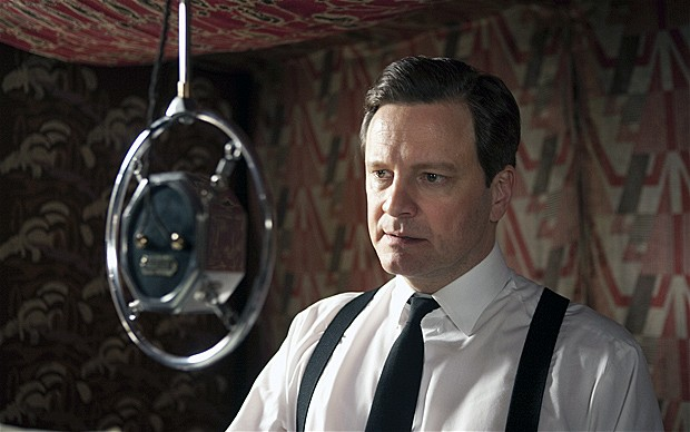 Still from The Kings Speech with Colin Firth